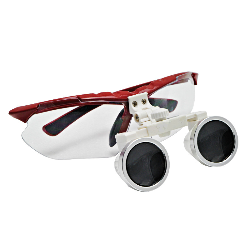 RED Dental Surgical Medical Binocular Loupes 3.5X 420mm Optical Glass Loupe<br><br>Aliexpress