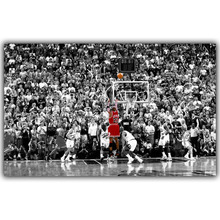 Michael Jordan Poster Title Winning Last Shot in Chicago Wings Fabric Silk Print 3 Size poster and prints for Home Decorate 038(China)