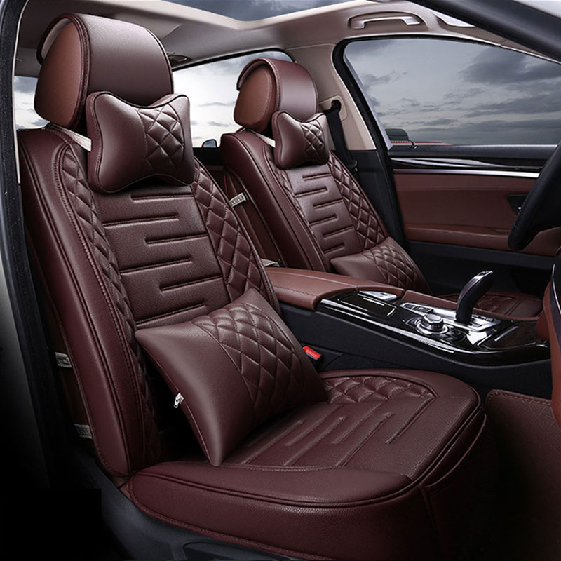 New Luxury Four Seasons top grade Pu Leather Breathable Comfortable Most GM Car Interior Car Seat Covers Black Beige Coffee red(China (Mainland))