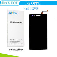 For OPPO Find 5 X909 909 LCD Display + Touch Screen Digitizer Full Assembly 5.0 inch 1920*1080 Black