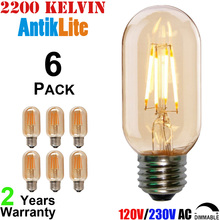 2 4 6 8 Watt T45 T14 Incandescent Style Antique LED Filament Bulb, 15 25 35 50 W Equal E27 Edison Screw Based Vintage Light Bulb