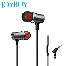 JOYBUY Metal Earphone 3.5mm Super Clear Heavy Bass Earbuds Sports Music Headsets Pro HiFi Earphones For Phone Computer Laptop