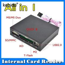 "Kebidu All In 1 Internal Card Reader USB 2.0 3.5"" Floopy Bay Front Panel Card Reader USB Flash Memory Card Reader(China)"