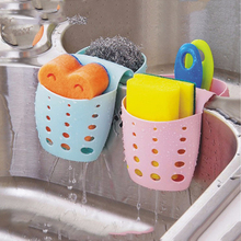 Butihome Kitchen Sponge Holder Suction Storage Bag Cups Organizer Hanging Side Sink Water Drain Racks Hook Two Grid Useful New