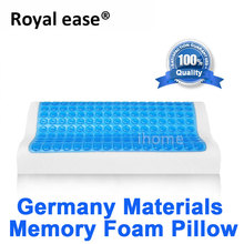 ROYAL EASE Comfort Sleep Cool Gel Pillow Hydrogel Memory Foam Pillow Anti Stiff Neck Pain Sleeping Cervical Spine Rehabilitation(China)