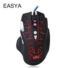 EASYA Professional Wired Gaming Mouse Optical Mouse Gamer Computer Mice Colorful Breathing LED For Laptops Desktops Use(China)