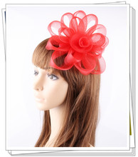 PROMOTION Ladies cheap feather flowers kentucky derby fascinators for wedding hats red bridal hair accessories cocktail hats P05