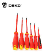 DEKOPRO 6PCS/bag  Electricians Screwdriver Set Tool Electrical Fully Insulated High Voltage Multi Screw Head Type
