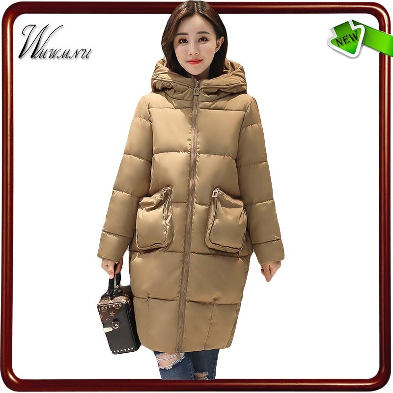 wmwmnu 2017 new Europe fashion cocoon winter parka women and thick winter long coats femal whit hoodies warm manteau femmeÎäåæäà è àêñåññóàðû<br><br>