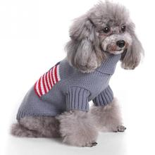 Pet Dog Clothes Sweater Knitted Warm Large Small Knitwear Outdoor Stars Print Color Puppy Coats Jumper