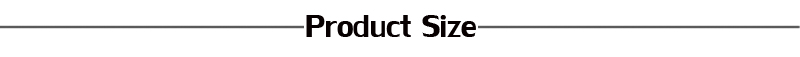 product size 2017