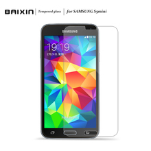 Baixin Premium S5 Mini Tempered Glass Film Guard Explosion Proof Screen Protector for Samsung Galaxy S5 Mini G800 Film Cover