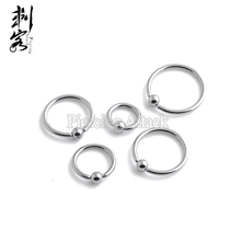 316L Surgical Steel Captive Stud Earrings 14 Gauge Basic Body Jewelry(China)