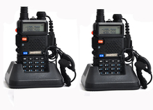 NEW 2 pcs Baofeng uv-5r ham Radio headsets Walkie Talkie 10 km For Two Way radio Station Dual Band Vhf Uhf Mobile uv5r CB amador