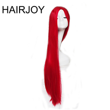 HAIRJOY Cosplay Wigs Red Color Carve One Meter Long Straight Synthetic Hair Costume Wig Heat Resistant Free Shipping(China)