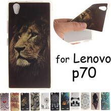 Colorful Lenovo P70 Case Cover Silicone TPU Cartoon 3D Soft Back Cases Covers for Lenovo P70-a p70-t Phone Skin Cute Shell House
