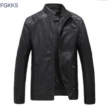 FGKKS Brand Motorcycle Leather Jackets Men Autumn and Winter Leather Clothing Men Leather Jackets Male Business Casual Coats(China)