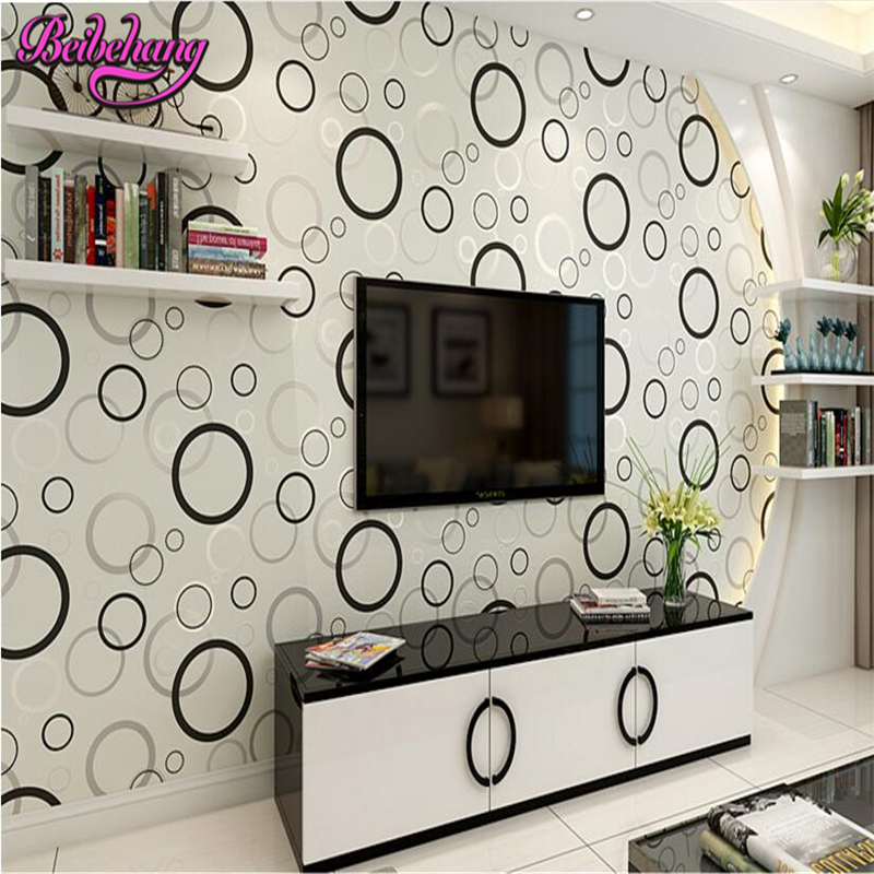beibehang papel de parede Circle Large Mural Living Room Background Wallpaper Mural Non woven Fabric 3d wallpaper for walls 3 d<br>
