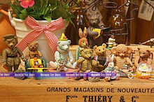 2015 NEW 9pcs/set 5-6cm High quality Teddy Bear action Figures movable hand& foot PVC Model kid toys antique collection