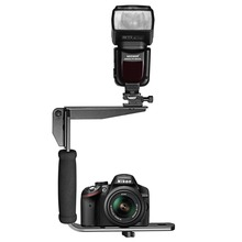Neewer Quick Flip Rotating Flash Bracket for Digital SLR Cameras Point and Shoot Cameras and Speedlight Flashes