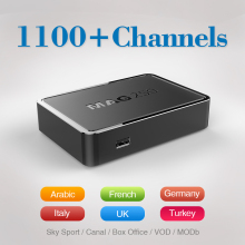 Top Quality IPTV BOX MAG 250 with 1100+Live TV Channels Arabic French Italy Europe IPTV Box Free shipping