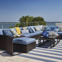 Sigma deep seating luxury exclusive outdoor rattan curved sofas