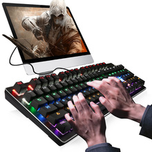 Russian/English Mechanical Keyboard 104 keys with 6 Illuminate Modes Backlit Gaming for PC Computer Games Teclado Gamer
