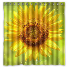 Sunflowers Shower Curtain Waterproof Mildewproof Bath Polyester Bathroom Decor Products With Hook 7171