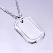 WN211  New hotsale Men's Jewelry / Factory Price/ 925 Silver Dog Tag Pendant Necklace / Wholesale Fashion Jewelry Supplier