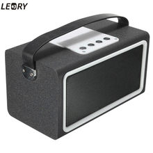 LEORY New Arrival Wooden Bluetooth Speaker HiFi Wireless Speaker TF USB Stereo Sound Audio Box Speaker For PC Tablet