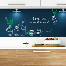 Love makes the world round Drift Bottle Pots Wall Sticker Window Colorful Removable PVC Vinyl Decal Home Living Room DIY Decor