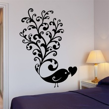 Wall Stickers Bird Love Romance Pattern Great Room Decor Vinyl Decal(China)
