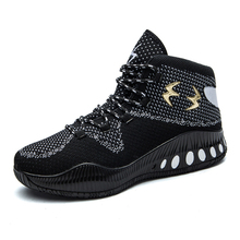 2017 Best Basketball Shoe Brand Men Gym Boots Black Red Mens Sport Trainers Men Breathable Comfortable Sneakers Basketball Boots