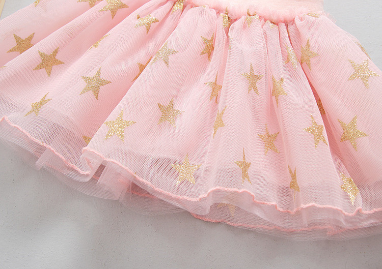 Fanfiluca New Baby Girl Clothes Tutu Skirt Ballerina Pentagram Children Ballet Skirts Party Dance Princess Girl Tulle Miniskirt008