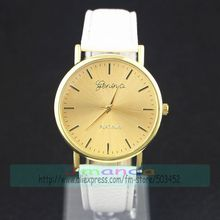 100pcs/lot XM New Gold Dial Leather Watch Wrap Quartz Geneva Casual Watch Wholesale Price Wristwatch HY Watch For Unisex(China)