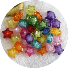 12/16mm 50/30Pcs/Lot Cheap New Five-pointed star Resin Beads Candy Color Acrylic Spacer Beads Jewelry Accessoires Wholesale