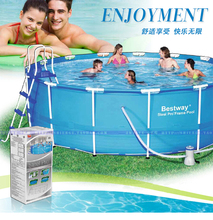 #56420(for Europe) Bestway366*122cm Round Frame-Supported Swimming Pool/Dia 12*Ht 4 feet outdoor circle thick Above Ground Pool