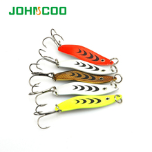 NEW 5pcs/lot 5CM/6.5G 3D Eye Metal Spoon Lures Hard Bait Fishing lures Spoon Spinner Bait Bass(China)