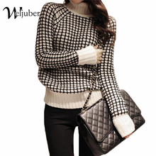 Weljuber Women Turtleneck Knitted Sweater Loose Warm Knitwear Blouse Winter New Fashion Comfortable Ladies Thicken Sweaters(China (Mainland))
