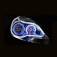 "2pcs/set White Color Light Strips Practical 23"" Side Glow Switchback Silicone LED Strip Running Lights(China)"