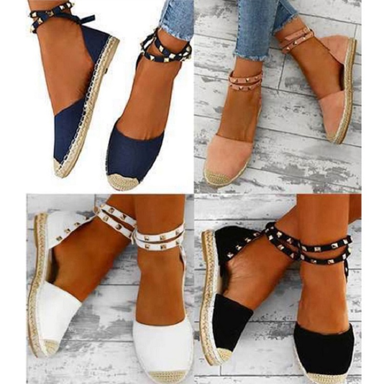 Women Sandals Fashion Peep Toe Summer Shoes Woman Faux Suede Flat Sandals Size 35-43 Casual Shoes Woman Sandals Zapatos Mujer (17)