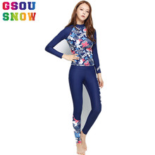 GSOU SNOW Brand Swimwear Women Wetsuits for Spearfishing Long Sleeve Surfing Swimming Suits High Elasticity Triathlon Wetsuit(China)