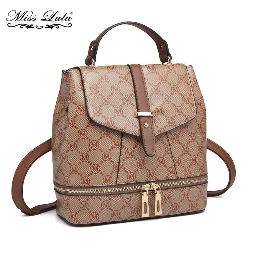 Detail Feedback Questions about Miss Lulu M Women Designer Multiway Backpacks  School Bags for Girls Ladies Leather Fashion Shoulder Bag Daypack Rucksack  ... 85d95232900e