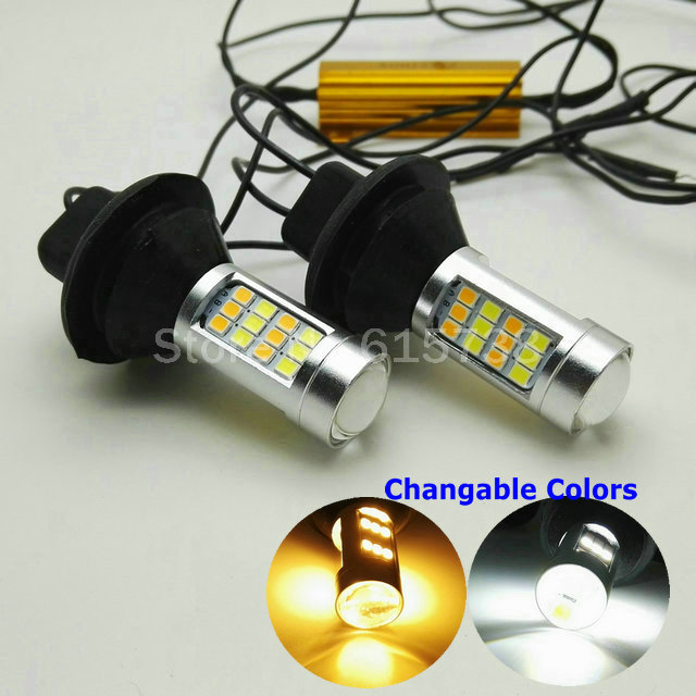 DRL Daytime Running Light &amp; Turn Signal Light Fog Lamps White Amber Changable colors Daylight with 1056 T20 adaptor<br><br>Aliexpress