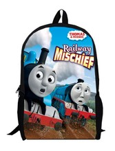 15inch cartoon little trains Backpack double layer custom made primary School train Kids boys girls anime men bags