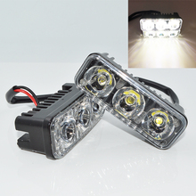 2pcs/set  9W Car LED Light Bar as DRL daytime running light Worklight / Flood Light / Spot Light for Boating / Hunting / Fishing