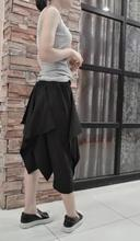 27-44 ! Plus size New Men's Women's two ways Calf-Length culottes multi-layer asymmetrical skirt loose capris singer costumes