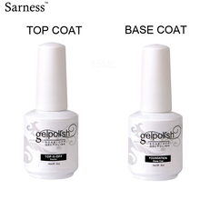 sarness 15ML Long Lasting No Sticky Gel Nail Soak Off  Gel Varnish Polish No Wipe Top Coat Base Cover Clean Free