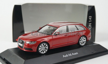 Red 1:43 Car Model AUDI  A6 AVANT Diecast Model Car Classic Toys Car Replica Luxury Collection