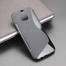 8 Color S Line Gel TPU Slim Soft Anti Skiding Case Back Cover For HTC One M8 Mobile Phone Rubber silicone Bag Cases(China)